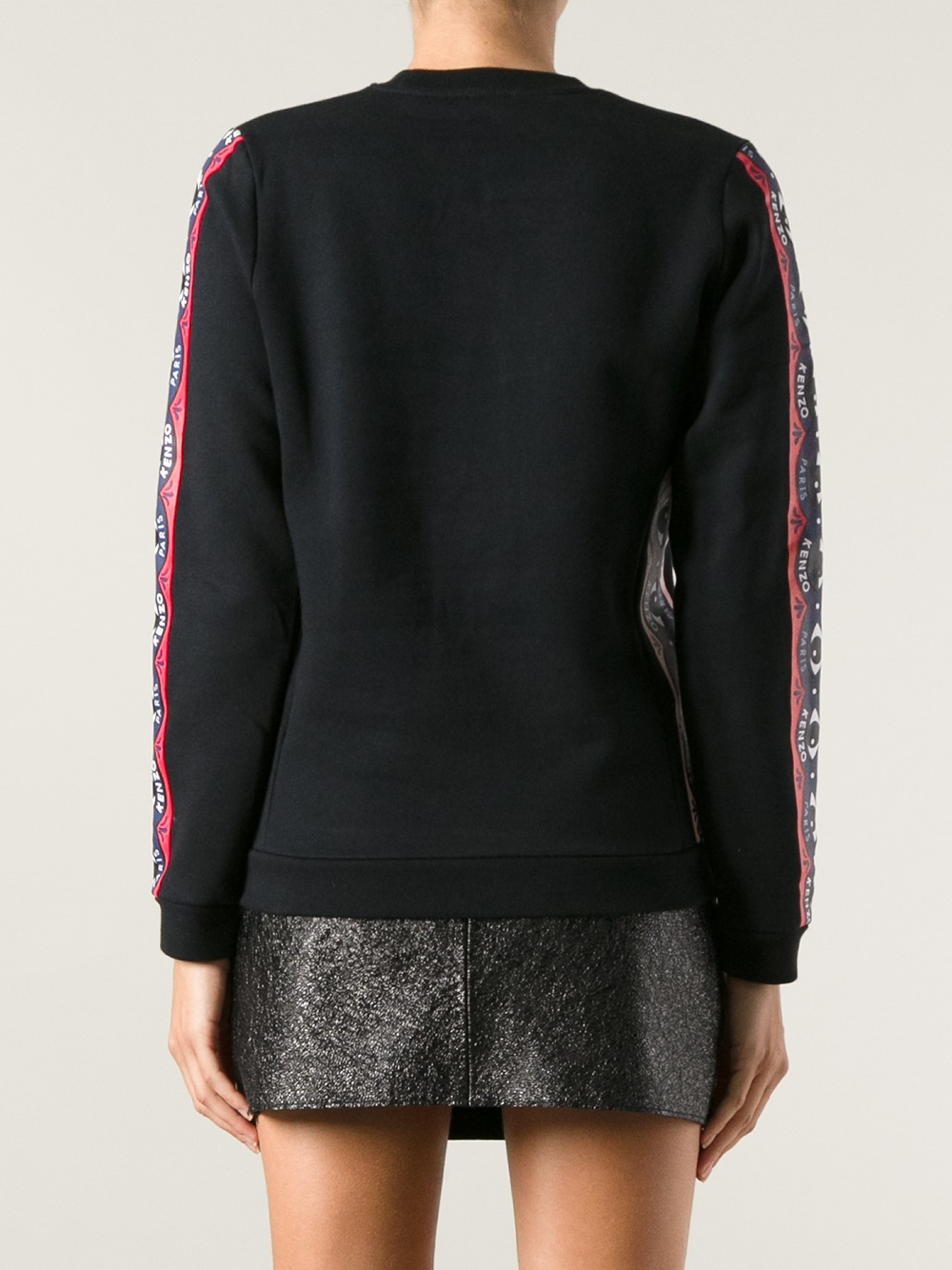 kenzo eye print sweater in black lyst. Black Bedroom Furniture Sets. Home Design Ideas