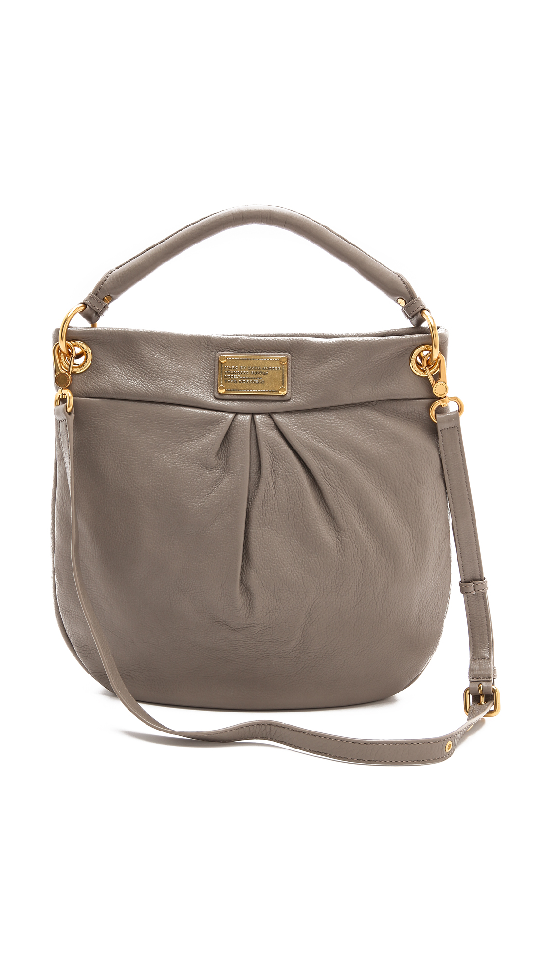 marc by marc jacobs classic q hillier hobo in gray warm zinc lyst. Black Bedroom Furniture Sets. Home Design Ideas