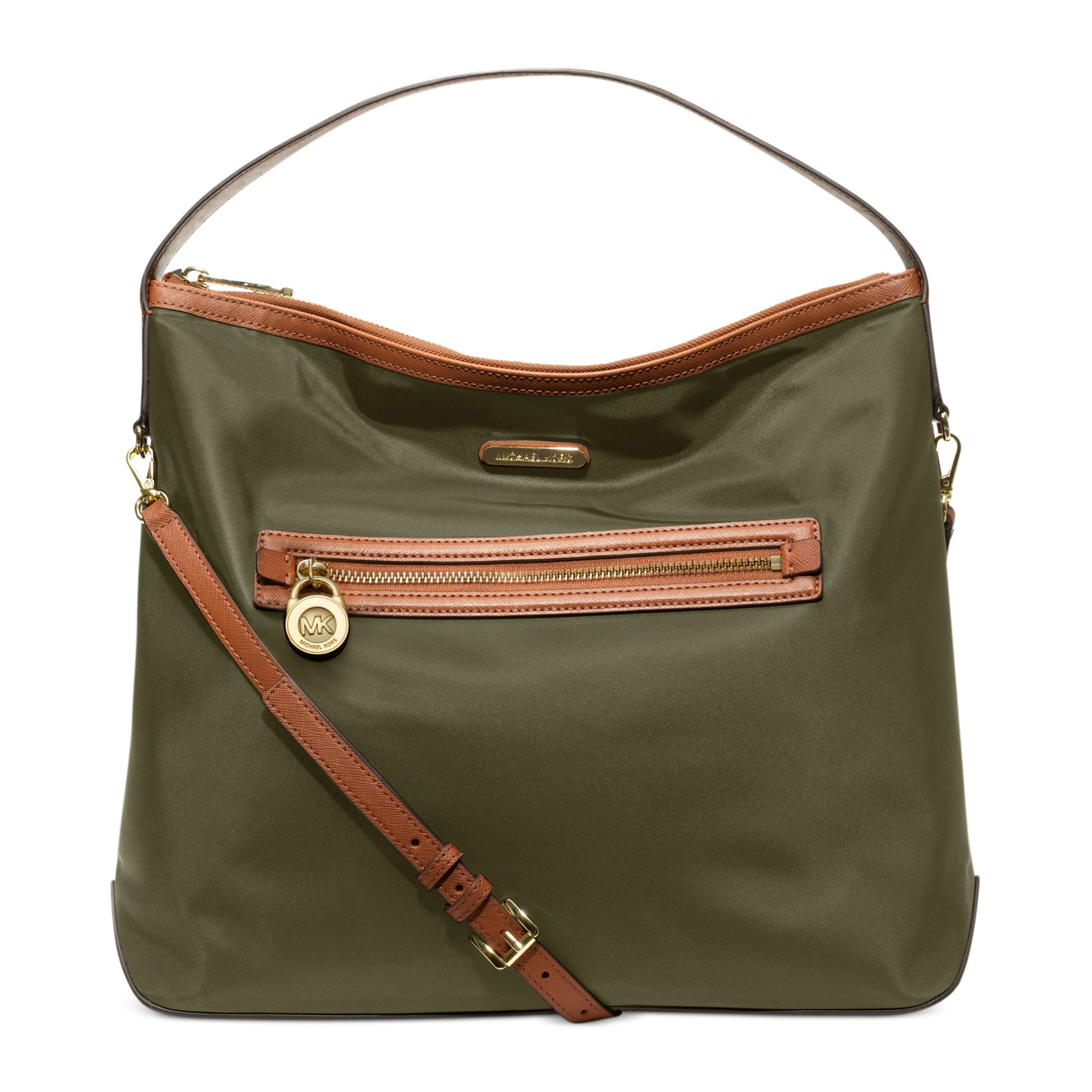30876de39d6526 Lyst - Michael Kors Kempton Large Shoulder Bag in Green