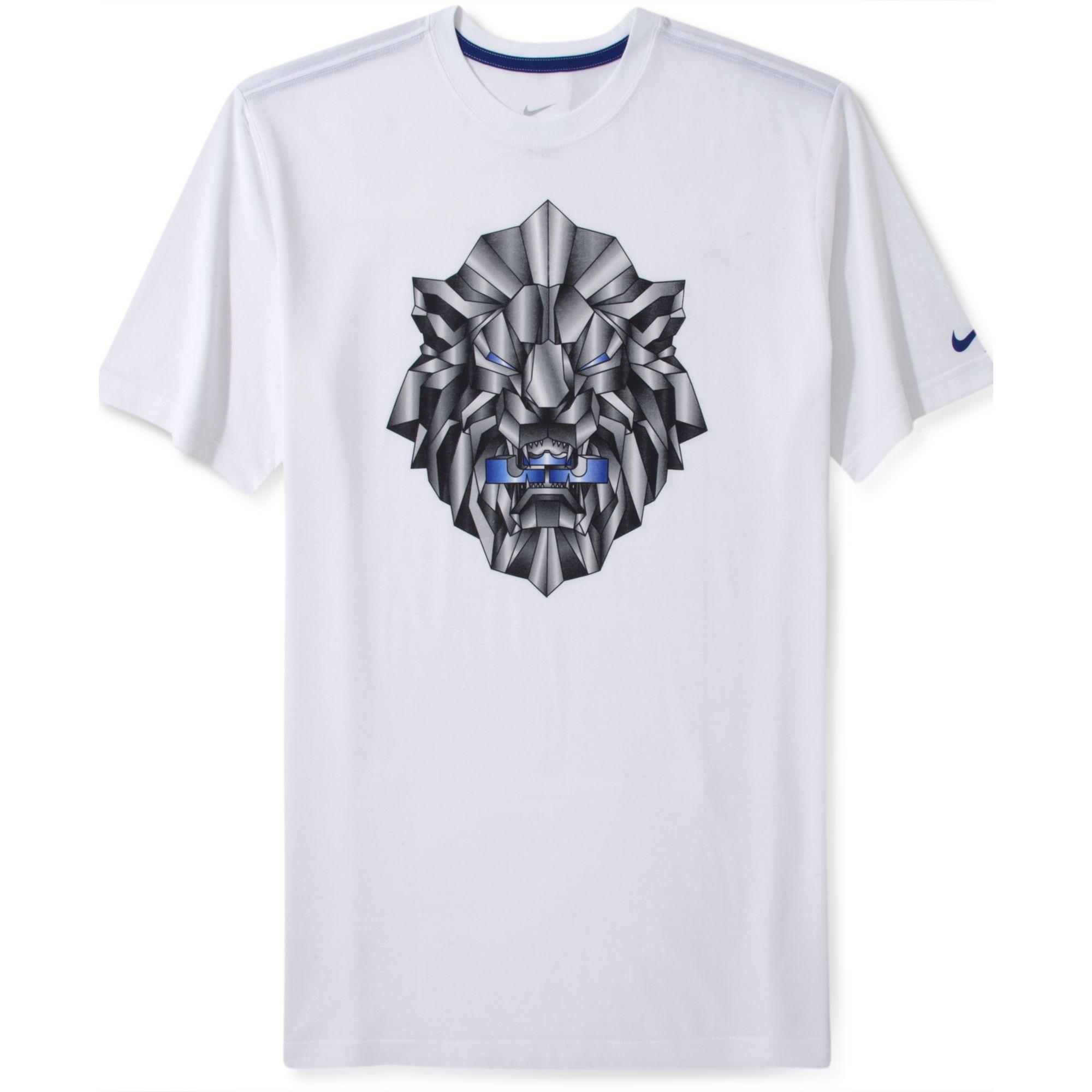 0e4ebb218 Nike Lebron Fan Shortsleeve Drifit Basketball Tshirt in White for ...