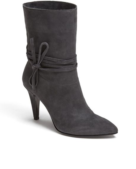 nine west cameron silver for painted boot in gray