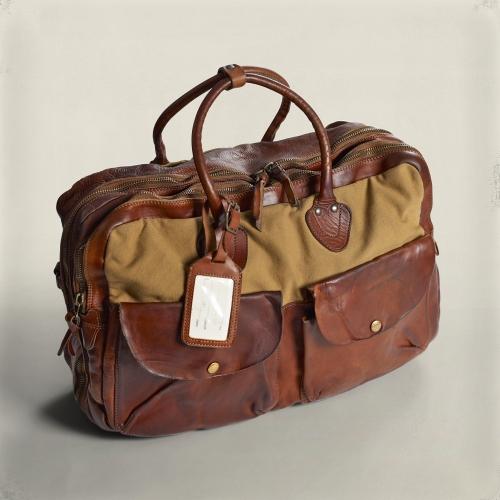 Rrl Canvas Leather Cargo Bag in Brown for Men | Lyst