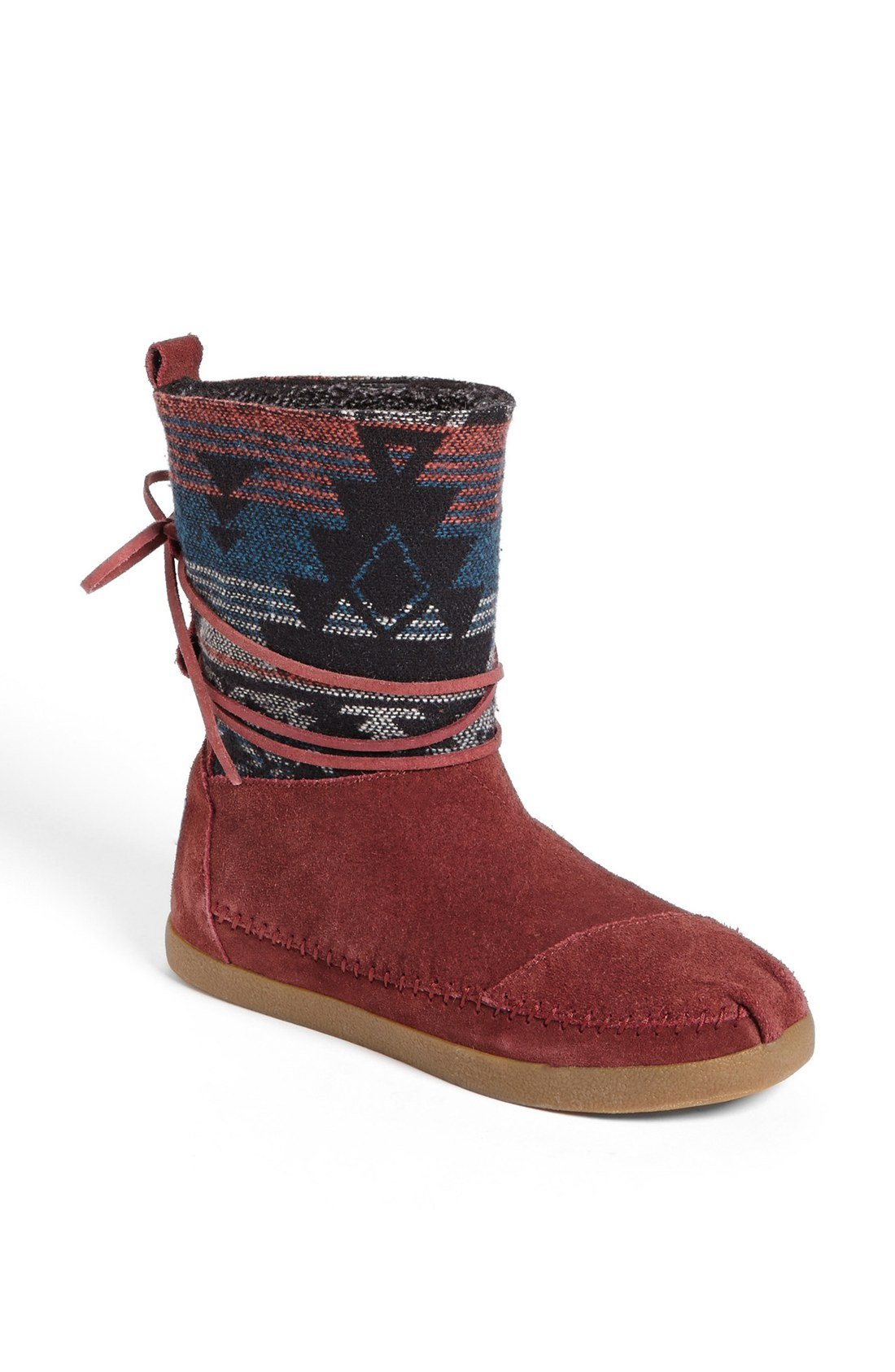 Toms Nepal Jacquard Boot In Multicolor (Burgundy Suede Jacquard) | Lyst