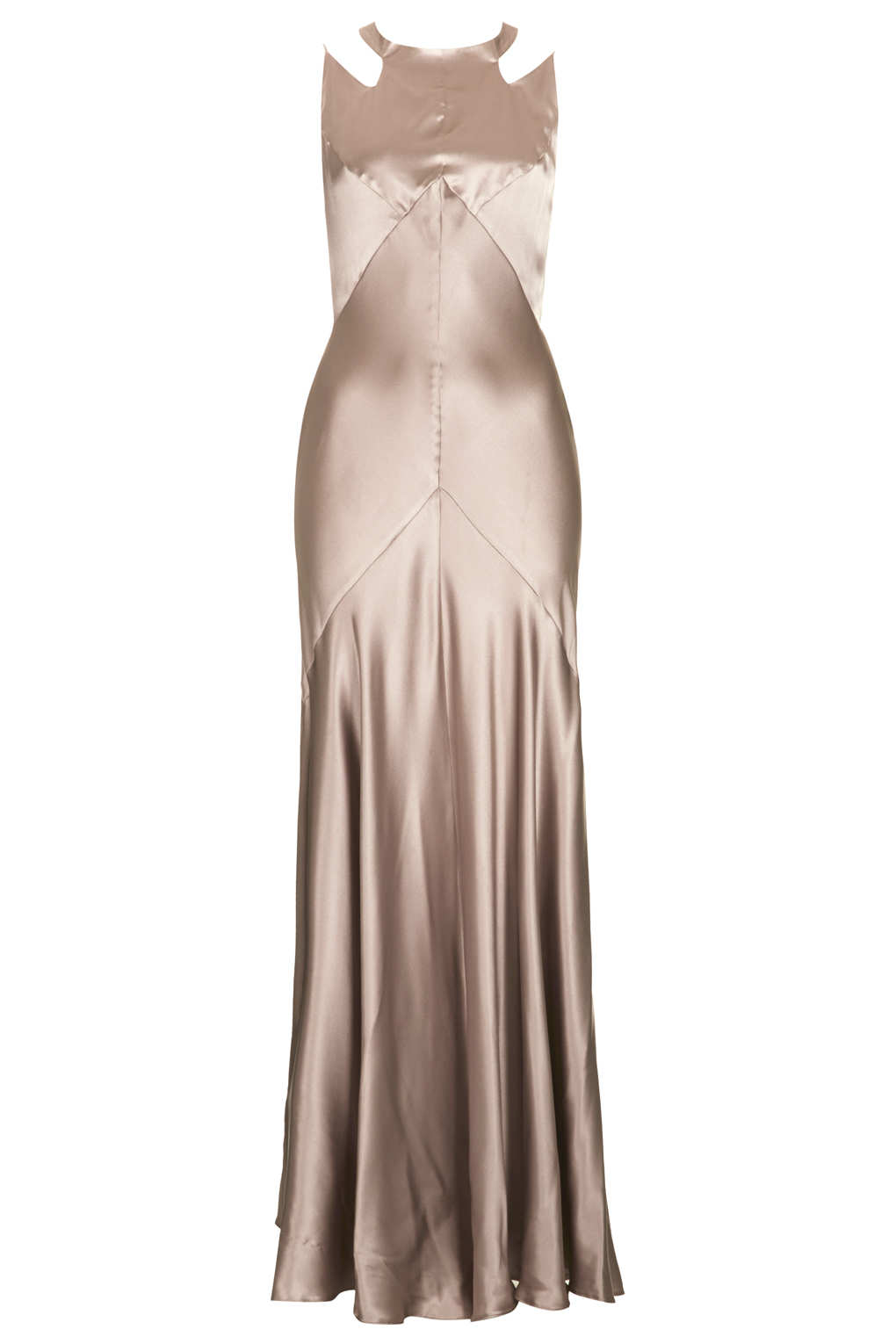 Lyst - Topshop Limited Edition Strappy Bias Cut Maxi Dress in Natural
