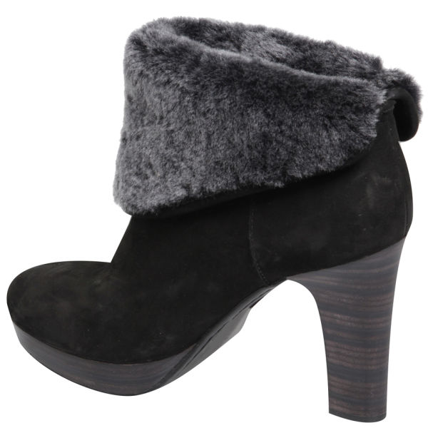 UGG Leather Ankle Boots Black