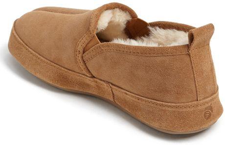 Acorn Romeo Ii Genuine Sheepskin Slipper In Brown For Men