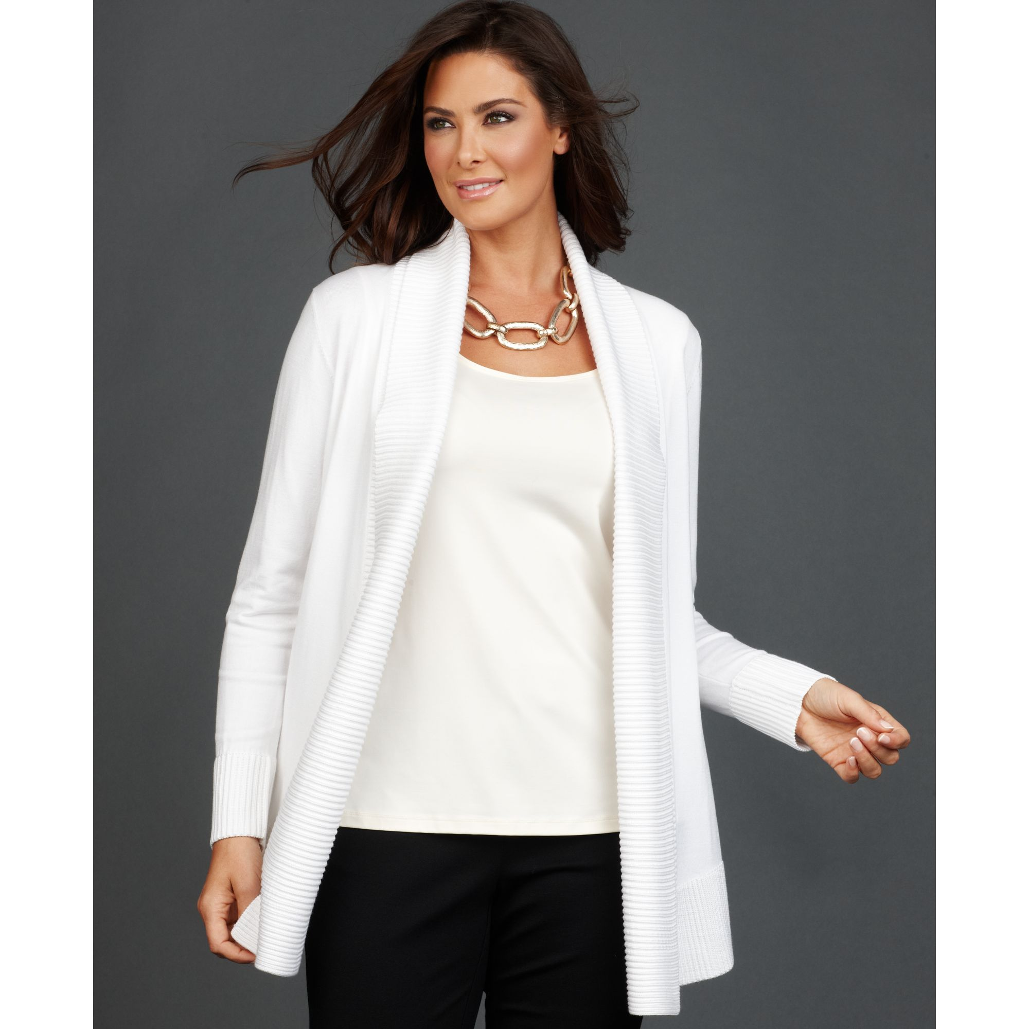 Lyst - Inc International Concepts Long Sleeve Open Front ...