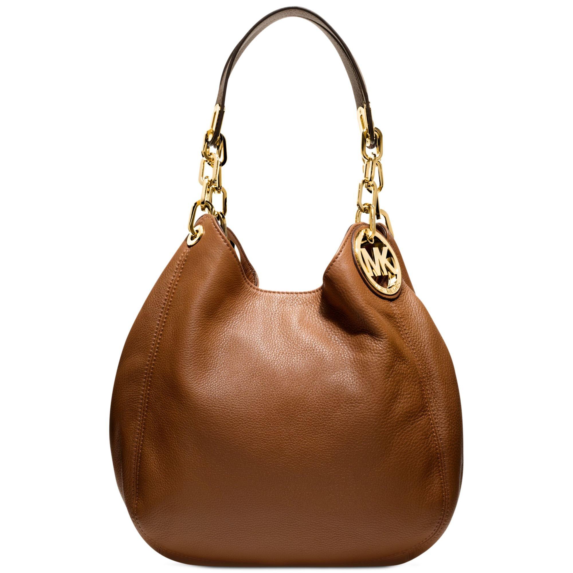 michael kors fulton medium shoulder bag in brown lyst. Black Bedroom Furniture Sets. Home Design Ideas