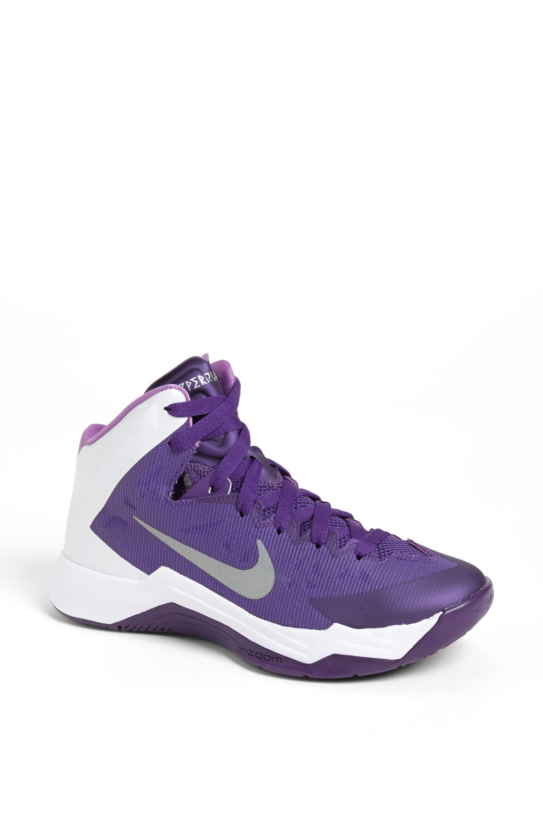 nike hyper quickness tb basketball shoe in purple court