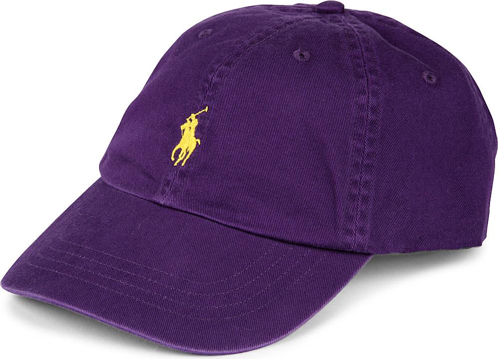 lyst ralph lauren signature pony baseball cap in purple. Black Bedroom Furniture Sets. Home Design Ideas