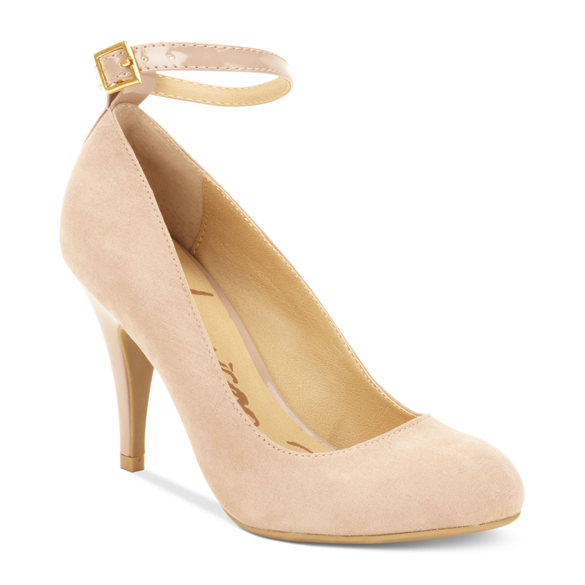 american rag foxyy ankle strap pumps in beige blush lyst. Black Bedroom Furniture Sets. Home Design Ideas