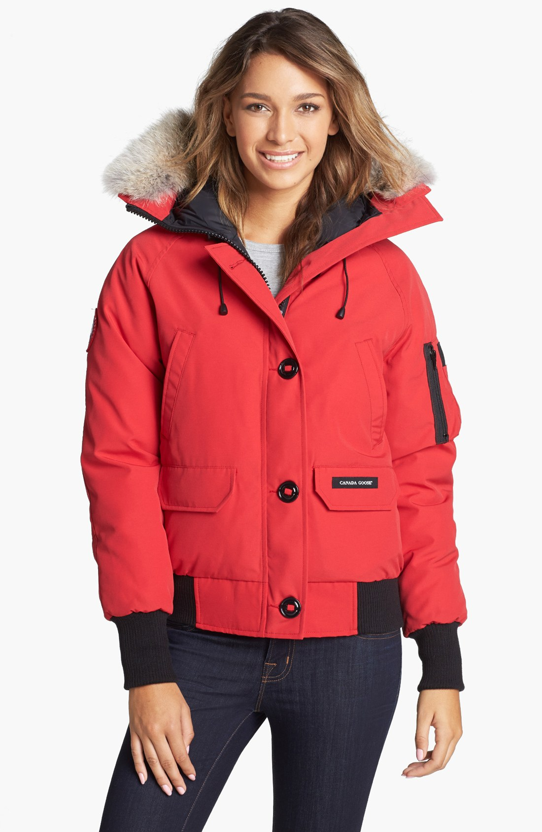 Canada Goose Chilliwack Down Bomber Jacket With Genuine