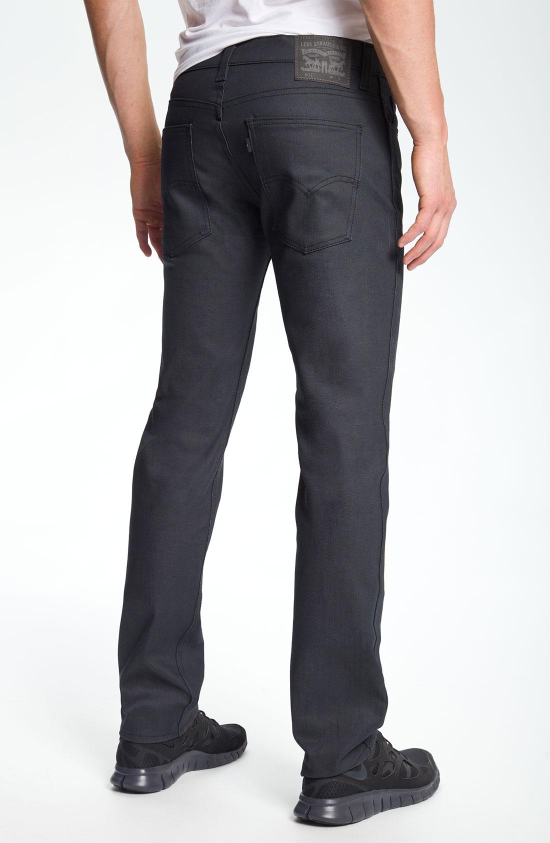 levi 39 s 511 slim fit jeans in gray for men anthracite lyst. Black Bedroom Furniture Sets. Home Design Ideas