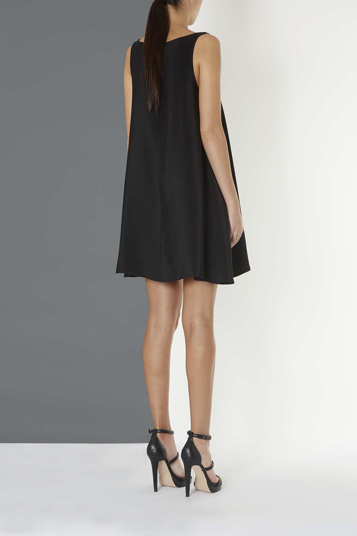 Topshop Silk Swing Dress By Boutique In Black Lyst