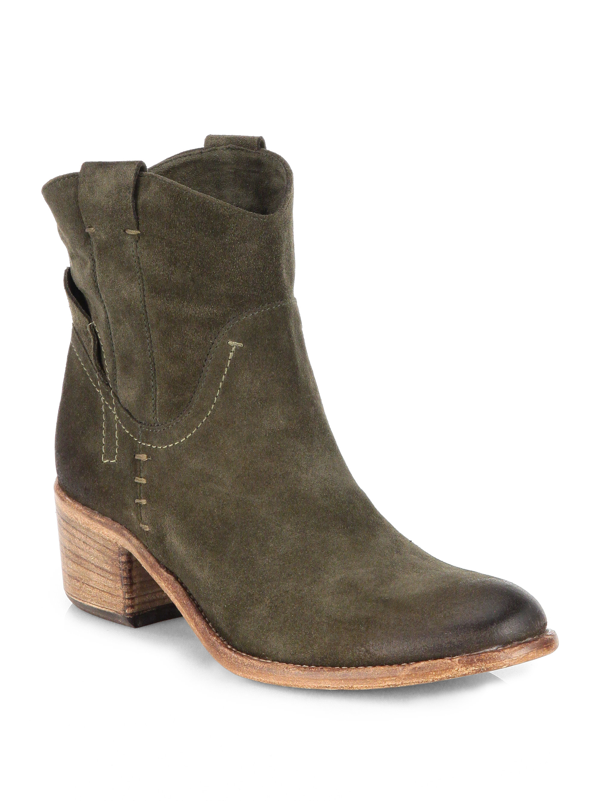 Alberto fermani Volo Suede Ankle Boots in Green