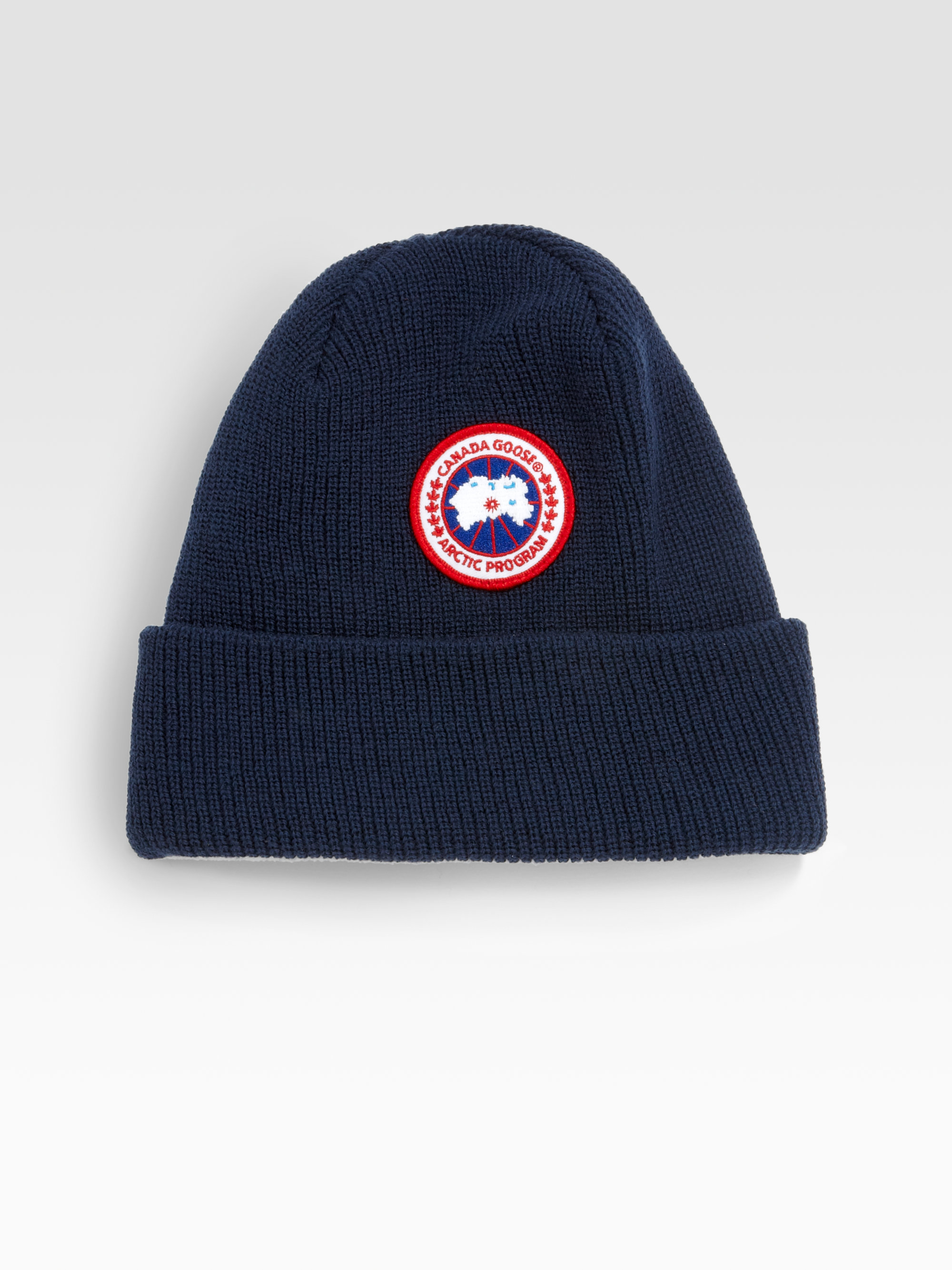 Lyst - Canada Goose Merino Wool Watch Cap in Blue for Men 504d30ec9ef