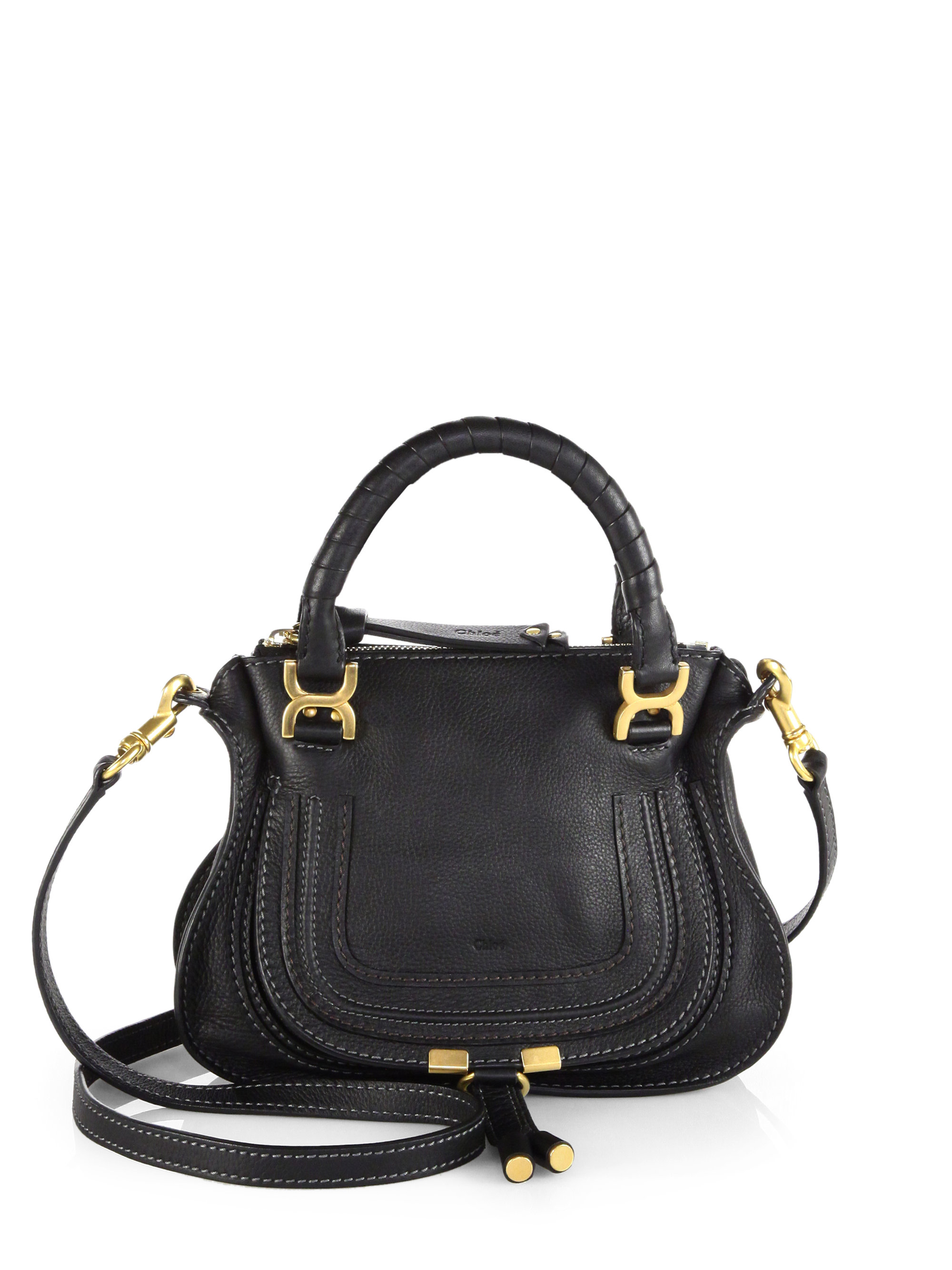 chlo marcie mini crossbody bag in black lyst. Black Bedroom Furniture Sets. Home Design Ideas