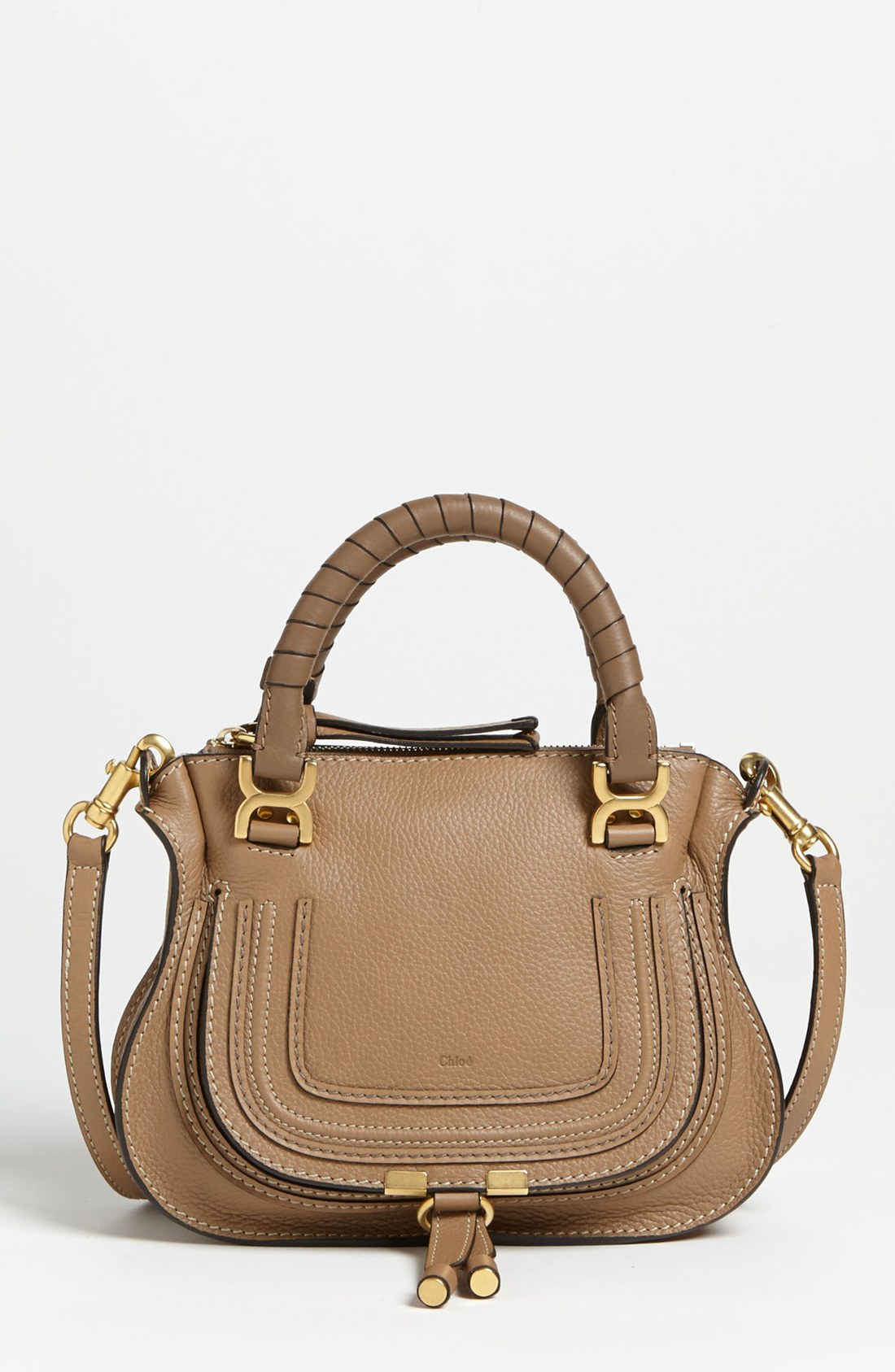 chlo marcie mini satchel in brown nut lyst. Black Bedroom Furniture Sets. Home Design Ideas