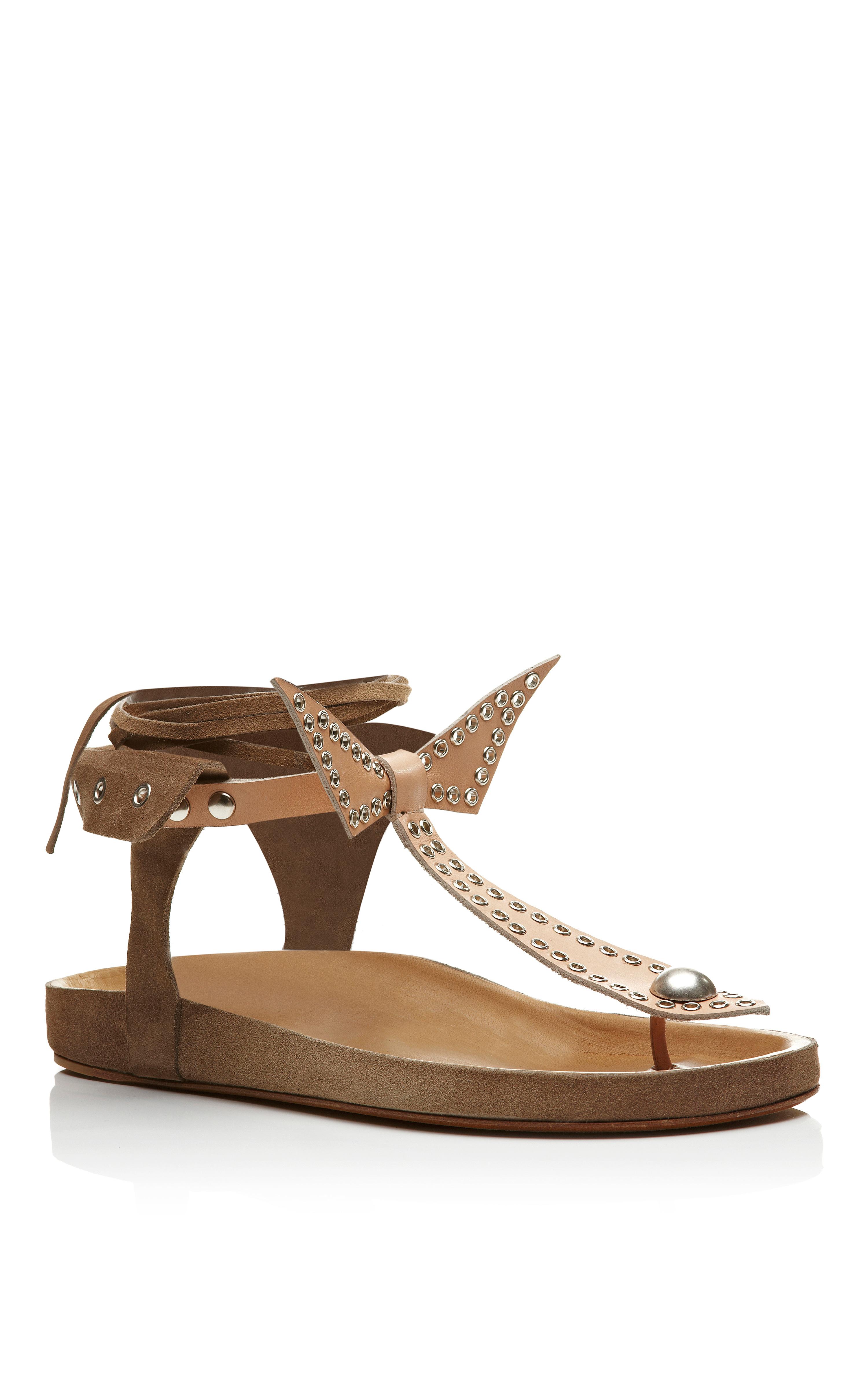 Isabel Marant Women's Jane Cross Over Flat Sandals - Chestnut - UK 4 bsYq3lb