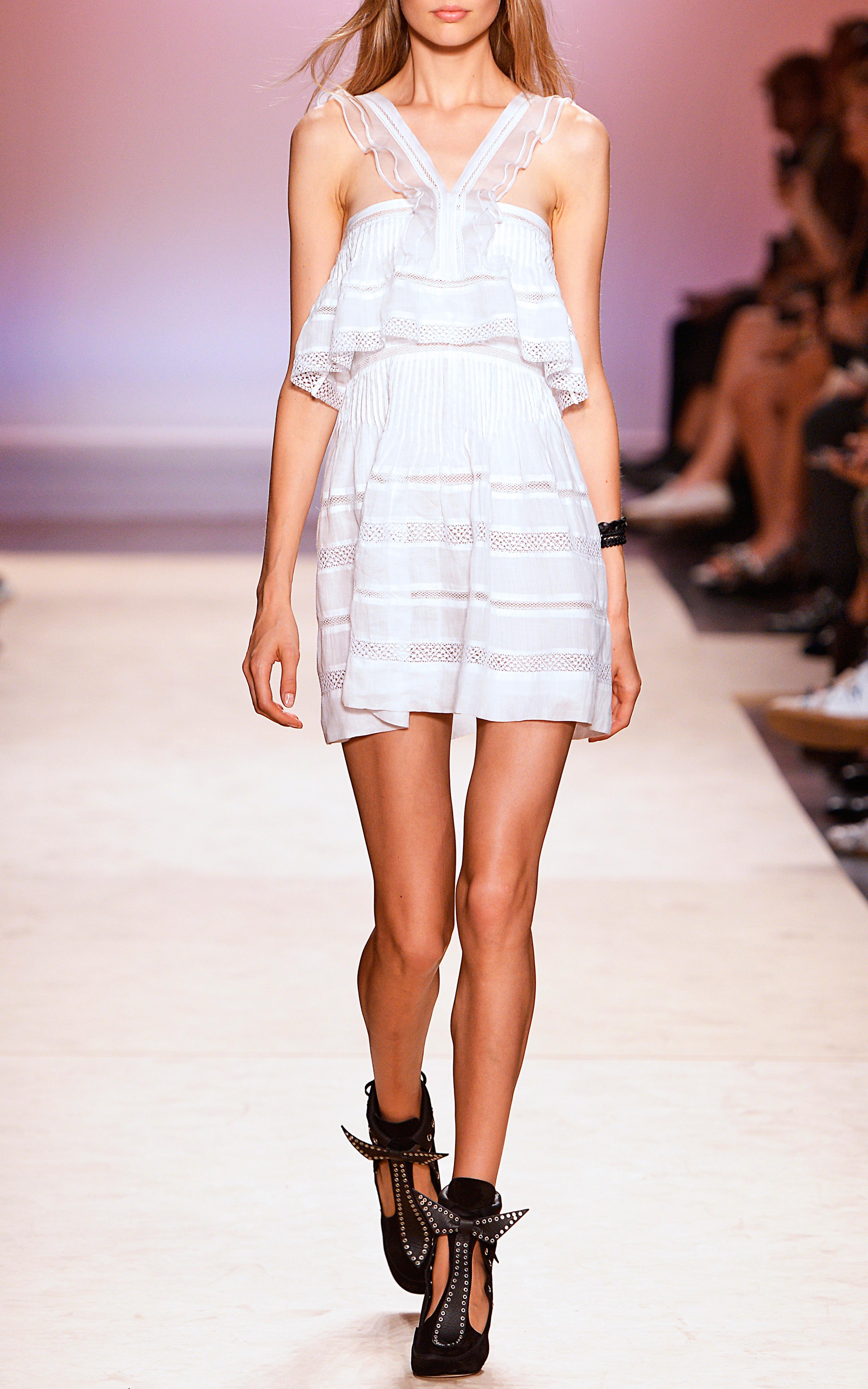 Lyst isabel marant white obira dress in white for Isabel marant shirt dress