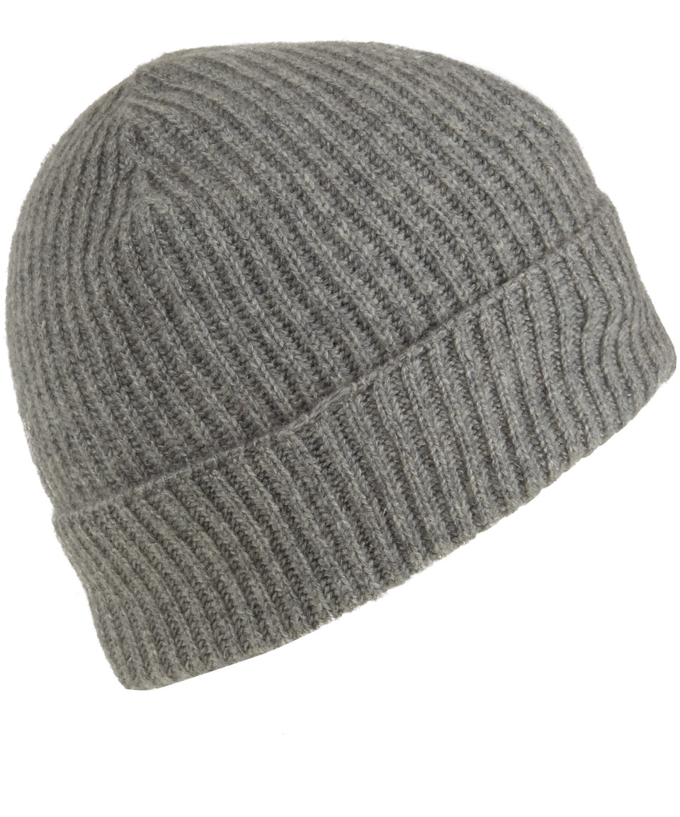 736399e3fb3c3 Lyst - Johnstons Grey Cashmere Beanie Hat in Gray for Men