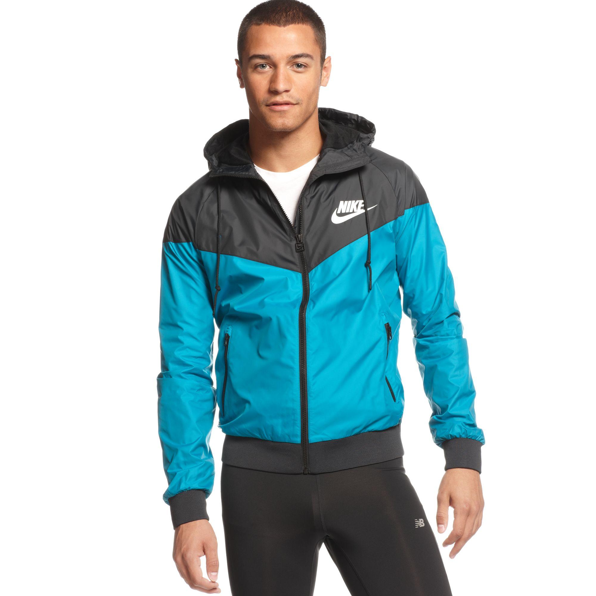 Lyst Nike Wind Runner Hooded Jacket In Blue For Men