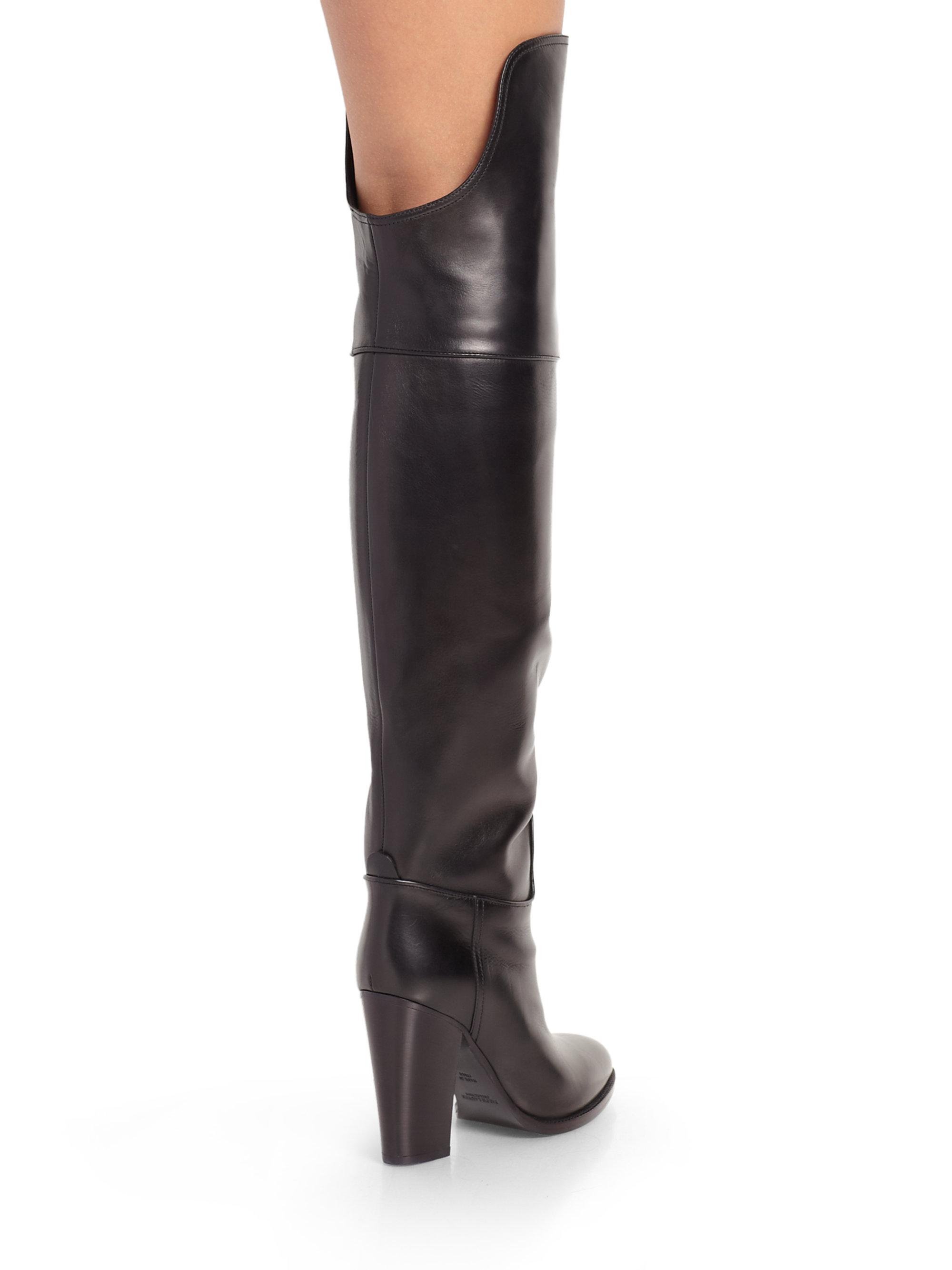Lyst Ralph Lauren Collection Harrah Leather Overtheknee