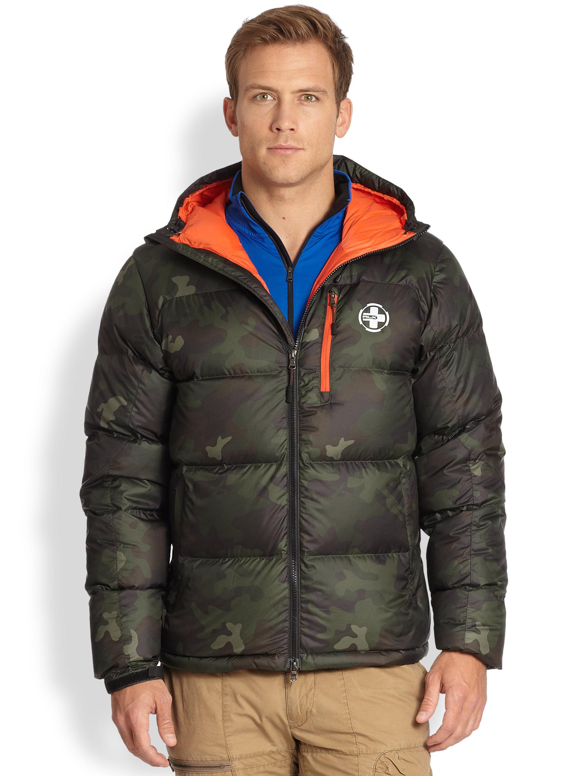 Ralph Lauren Fashion Show At New York: Rlx Ralph Lauren Camouflage Down Jacket In Green