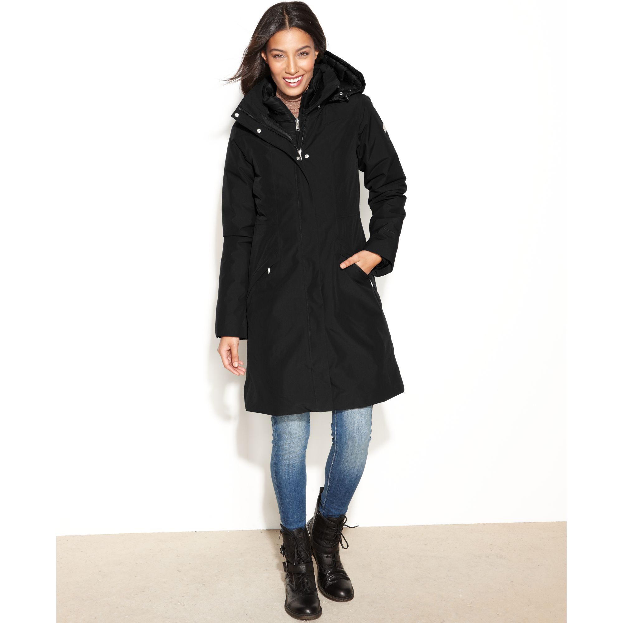 5b014be55 The North Face Black Suzanne Triclimate Trench Hooded