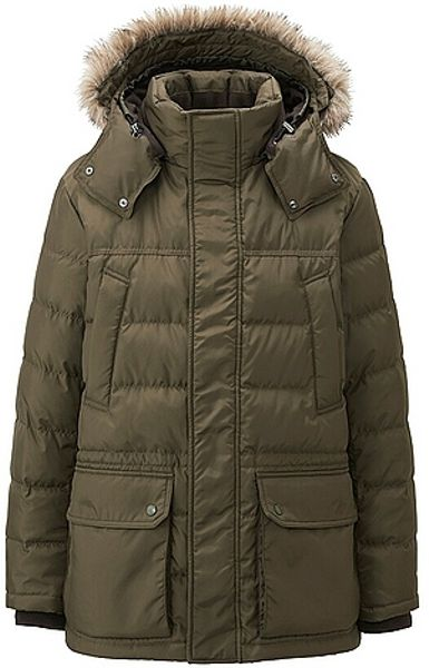 Uniqlo Down Jacket In Green For Men Olive Lyst