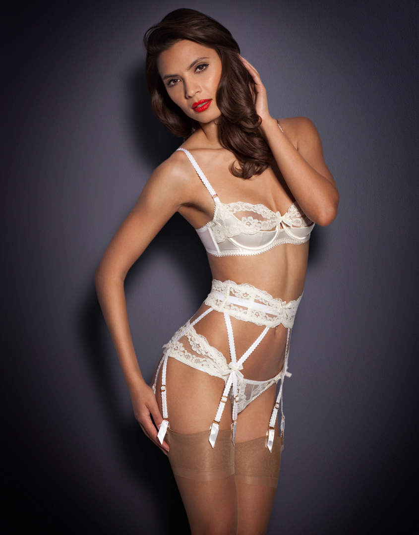 Lyst Agent Provocateur Lacy Suspender In White