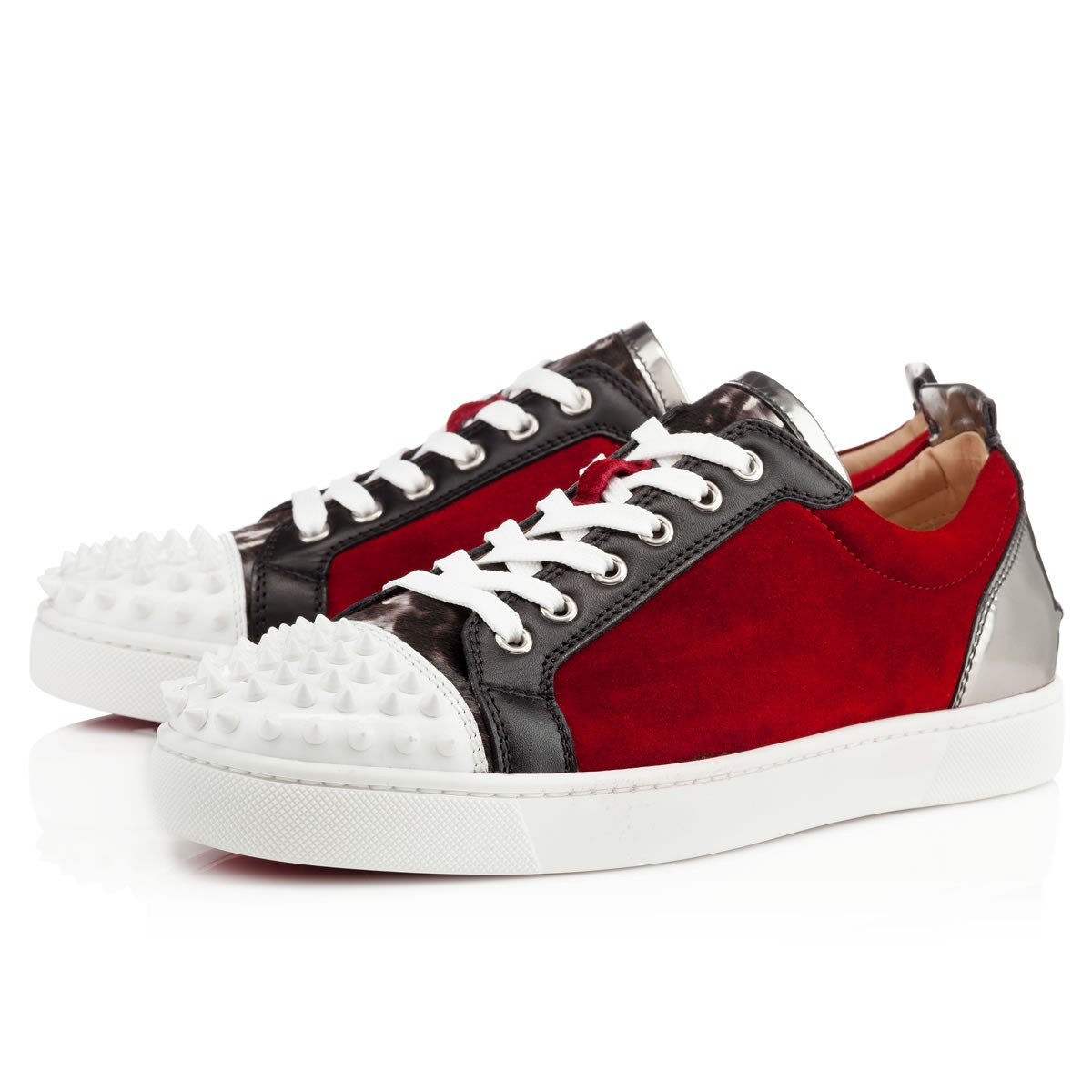 Christian louboutin Spikes Mens Flat Sneaker in Red for ...