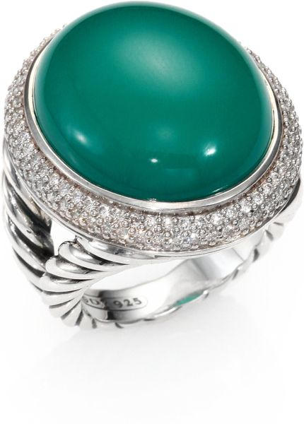 david yurman green onyx sterling silver cabochon