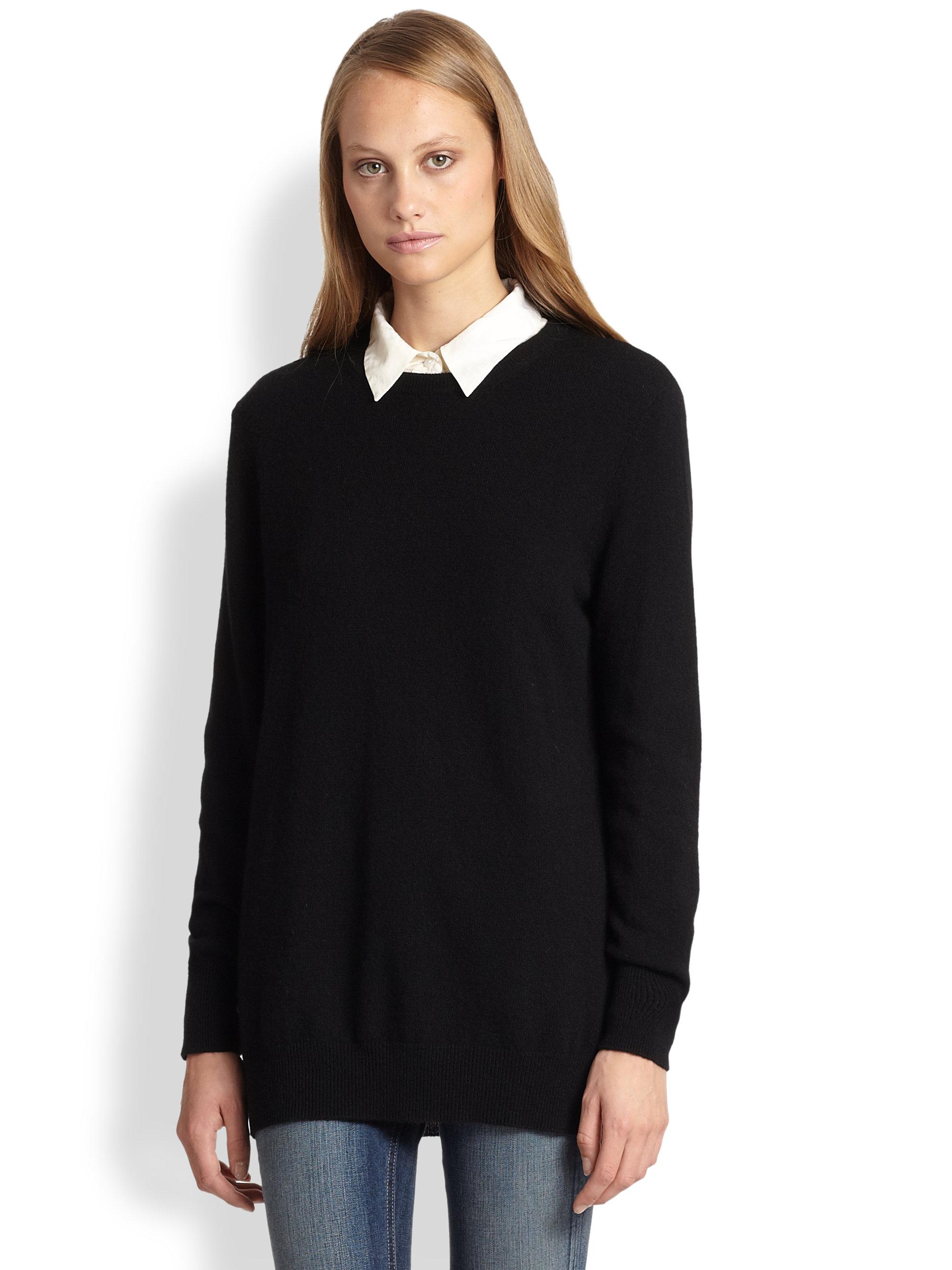 Equipment Rei Cashmere Crewneck Sweater in Black | Lyst