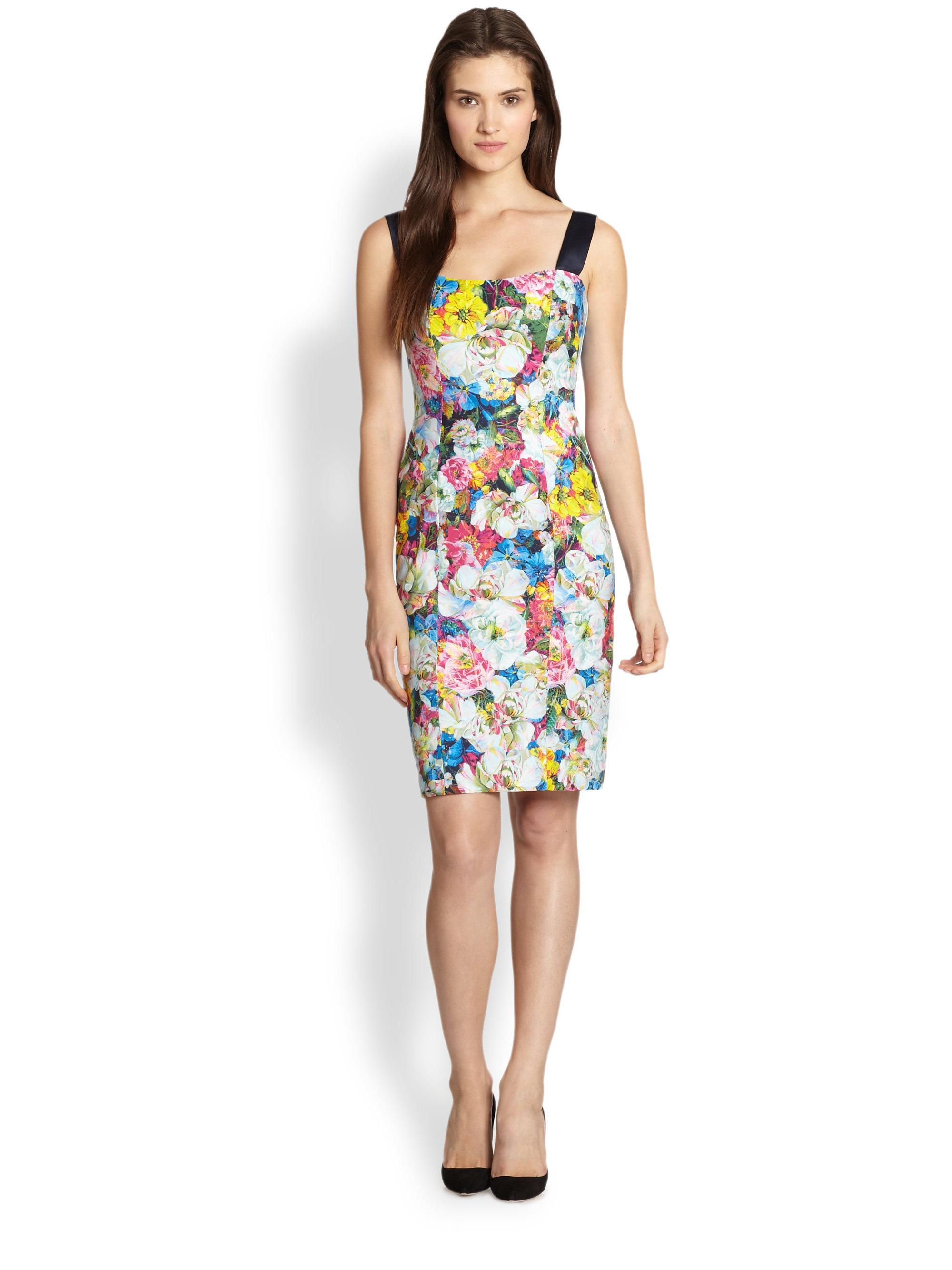 Lyst Erdem Hartley Stretch Twill Floral Dress