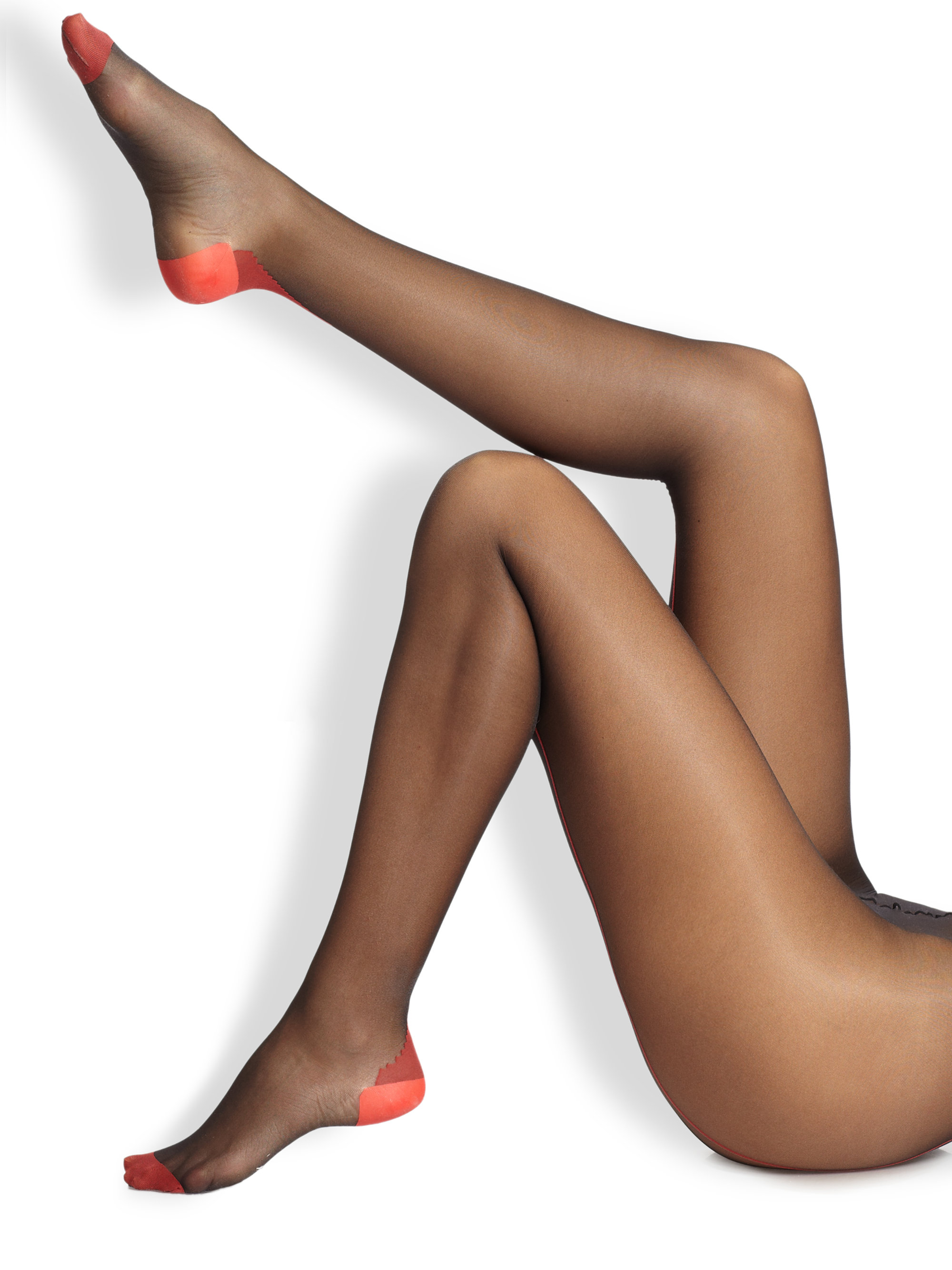 Reinforce heel and toe pantyhose