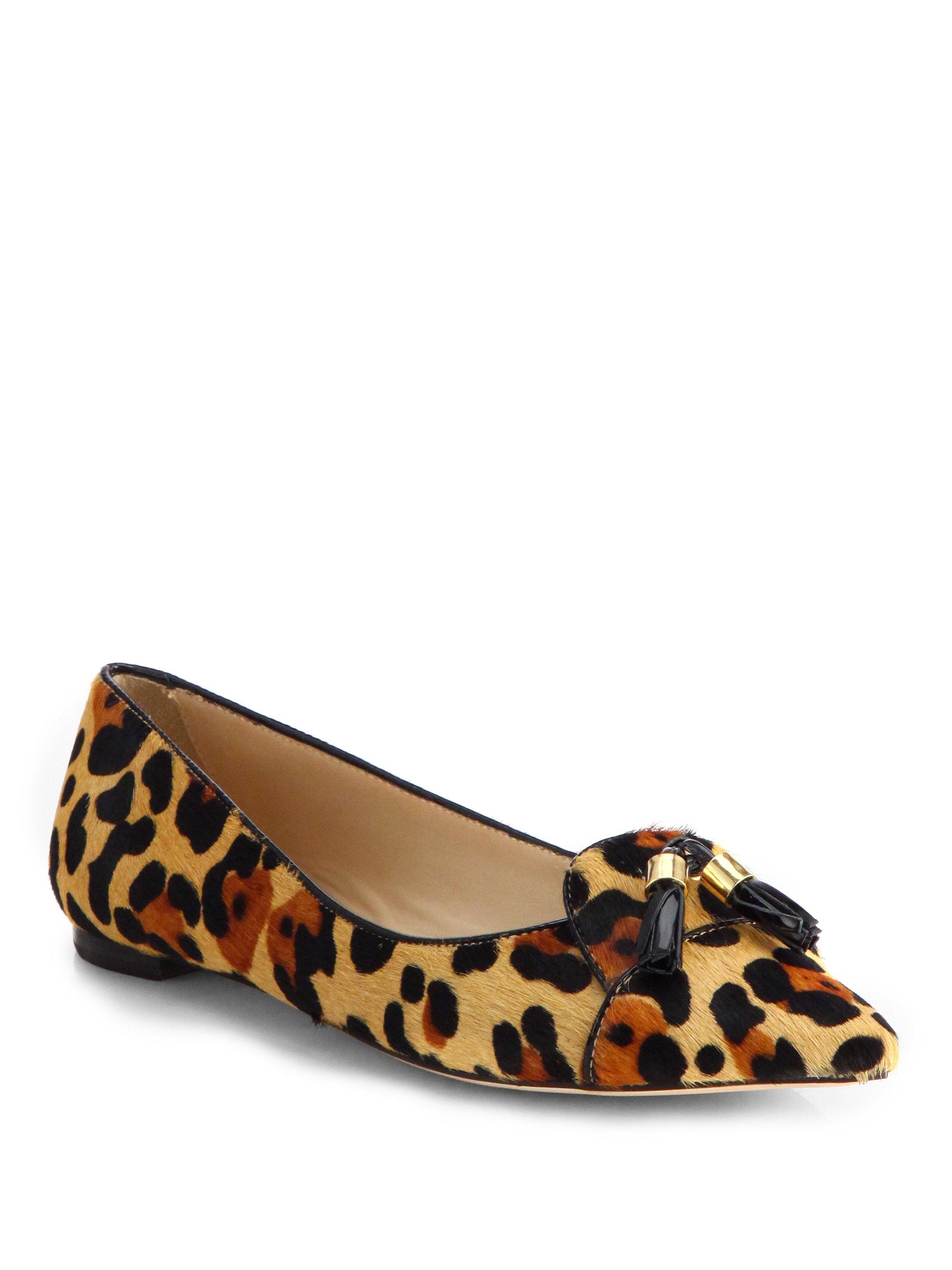 Kate spade new york grenada leopard calf hair flats in for Kate spade new york flats