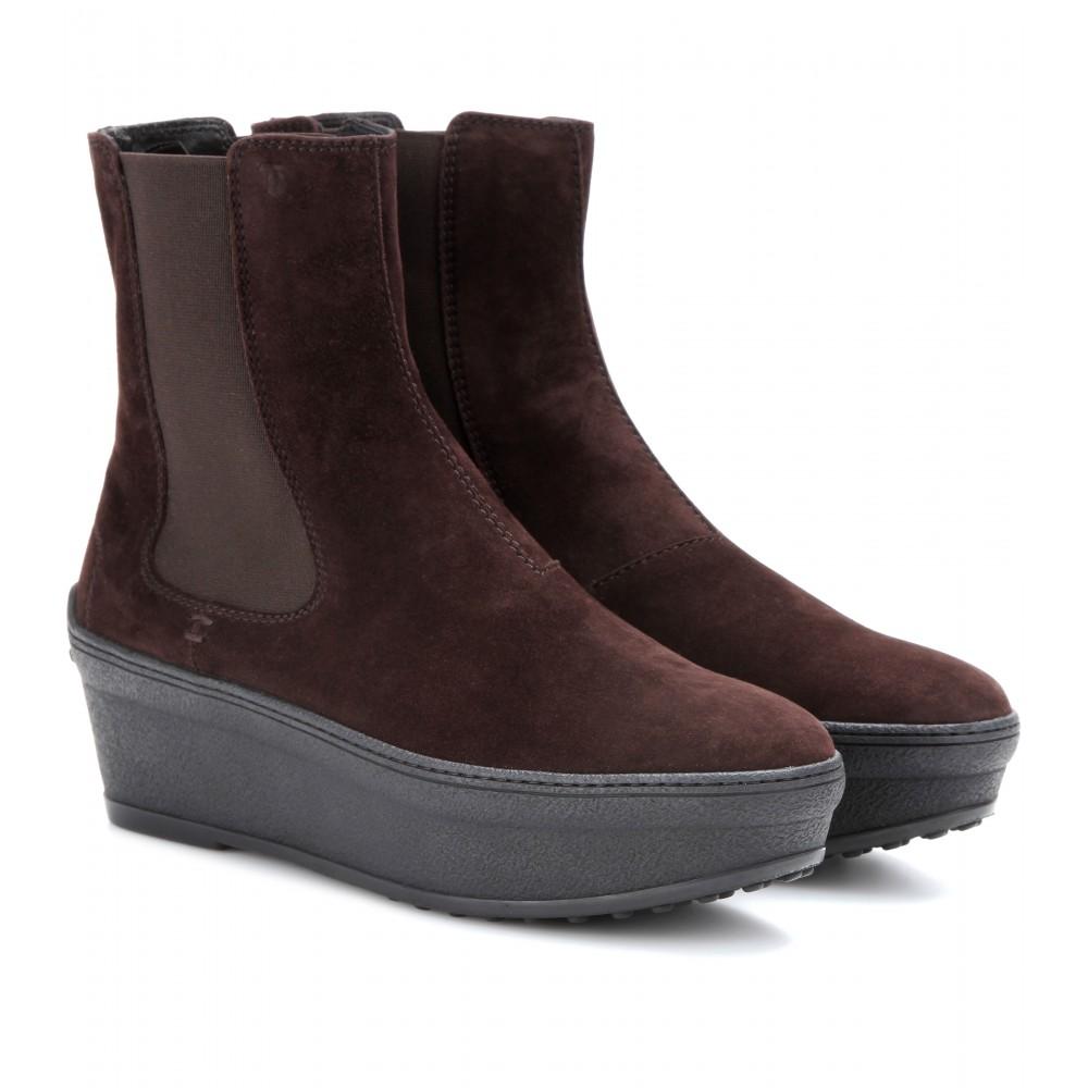 suede platform chelsea boots