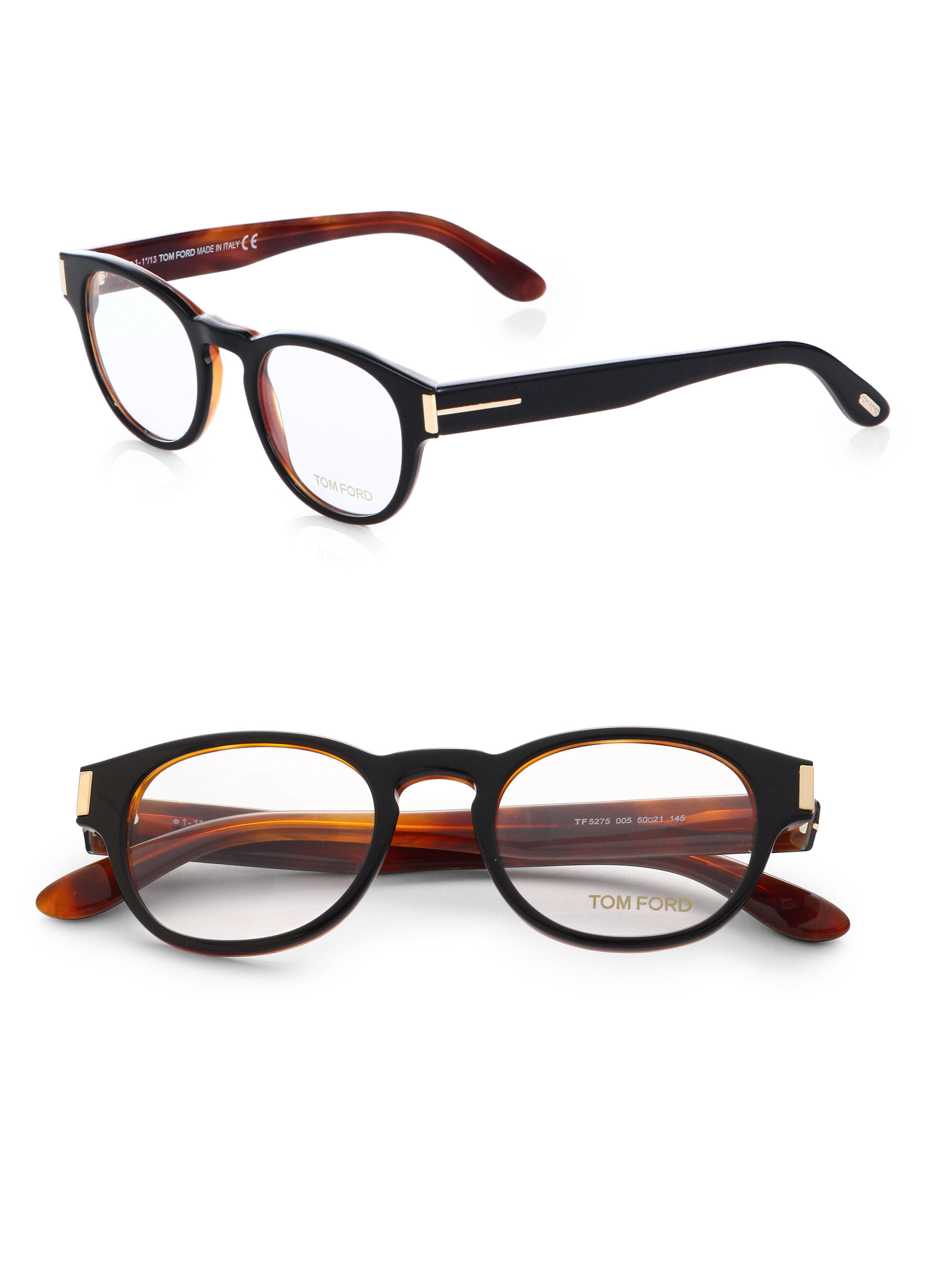 6a428e5ce60 Lyst - Tom Ford Round Eyeglasses in Black