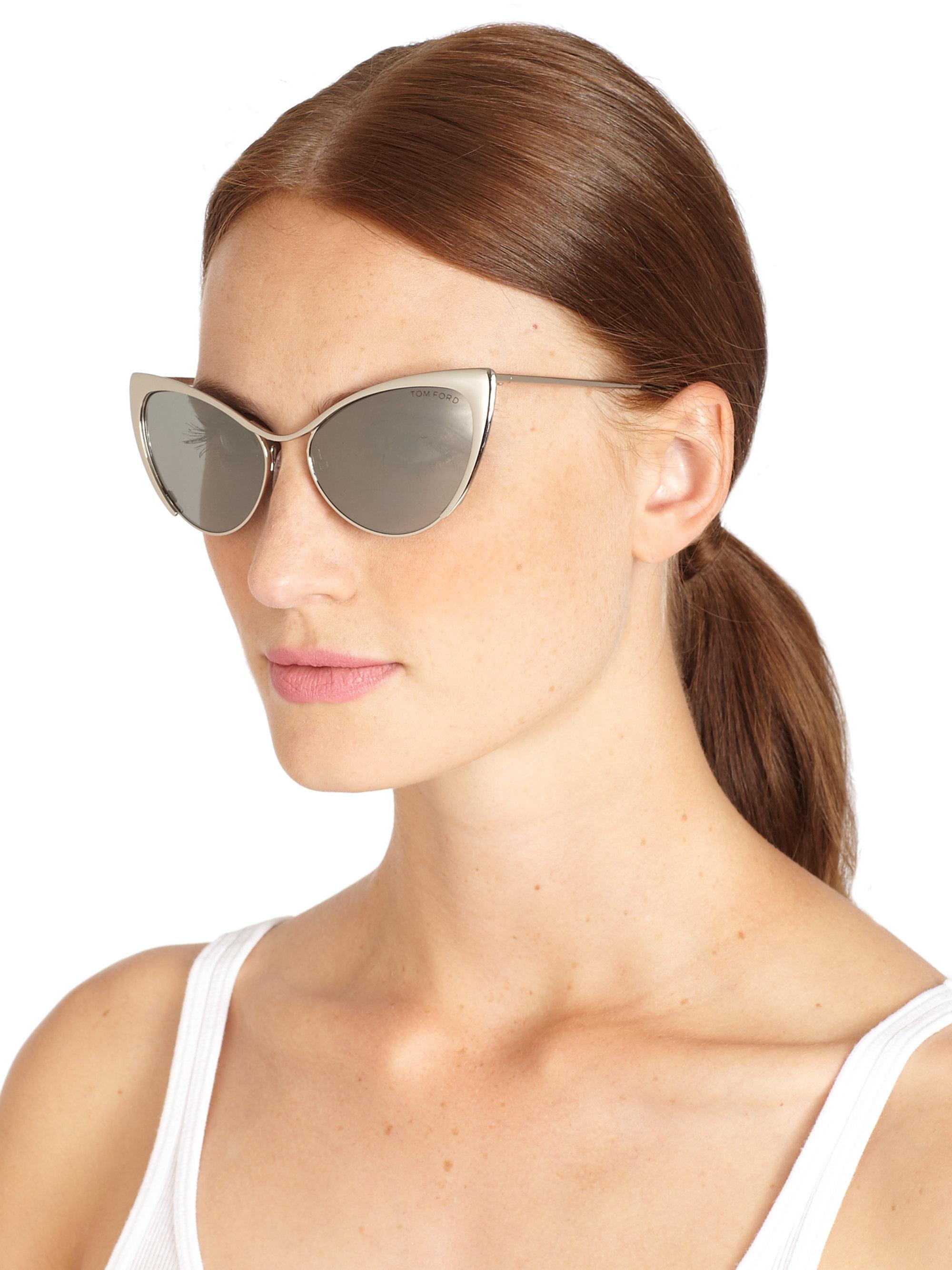 tom ford henry horn rimmed sunglasses in brown smoke lyst. Black Bedroom Furniture Sets. Home Design Ideas