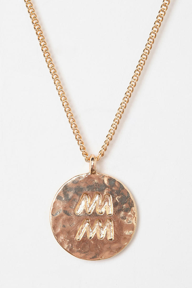 Lyst - Urban Outfitters Rhinestone Zodiac Necklace In Metallic