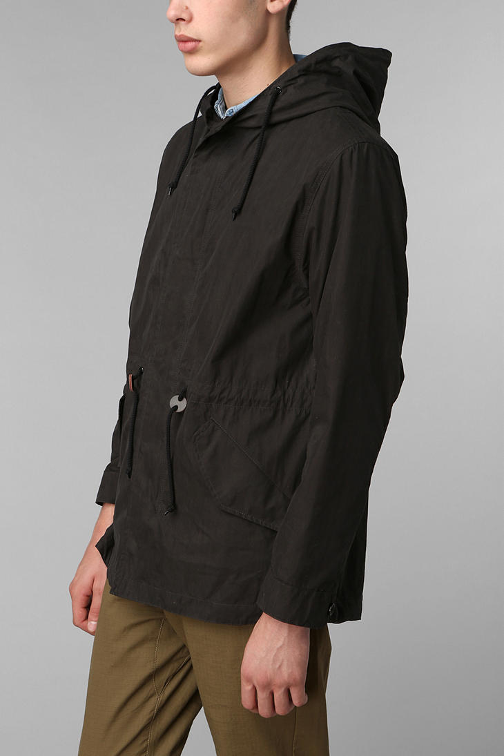 Urban outfitters Alpha Industries Fishtail Parka in Black for Men ...