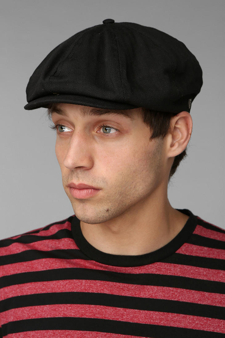Lyst - Urban Outfitters Brixton Brood Snap Driver Cap in Black for Men cf83276a327
