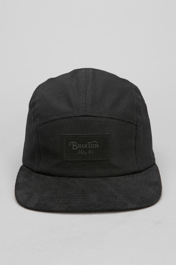 1aaaf5817 Urban Outfitters Black Brixton Cavern 5panel Hat for men