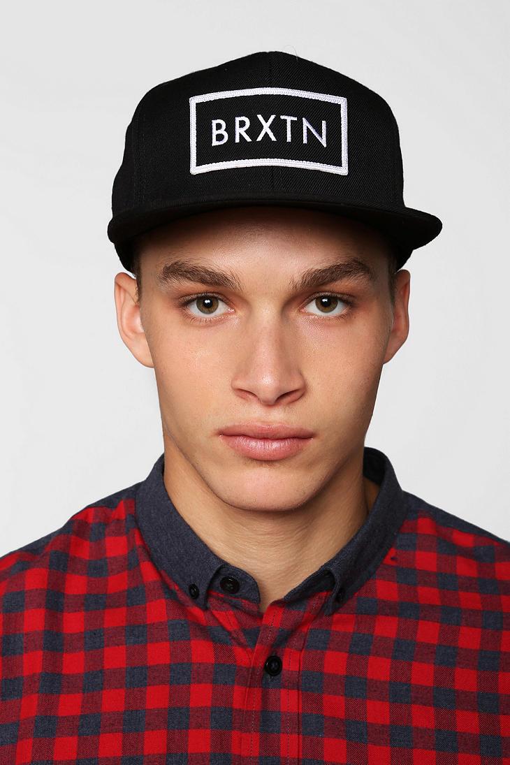 9eed9d1dda Urban Outfitters Black Brixton Rift Snapback Hat for men
