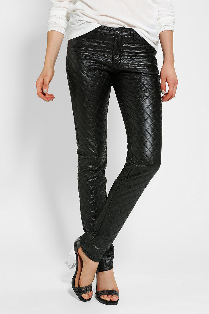Urban Outfitters Bycorpus Quilted Vegan Leather Pant In