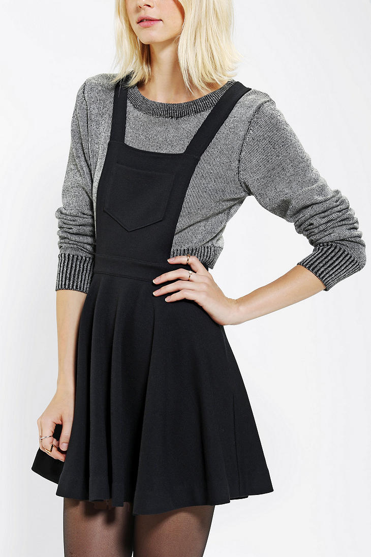 Urban Outfitters Cooperative Circle Skirt Overall In Black