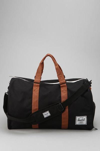 Herschel Supply Co. Novel Weekender Duffel Bag in Black for Men