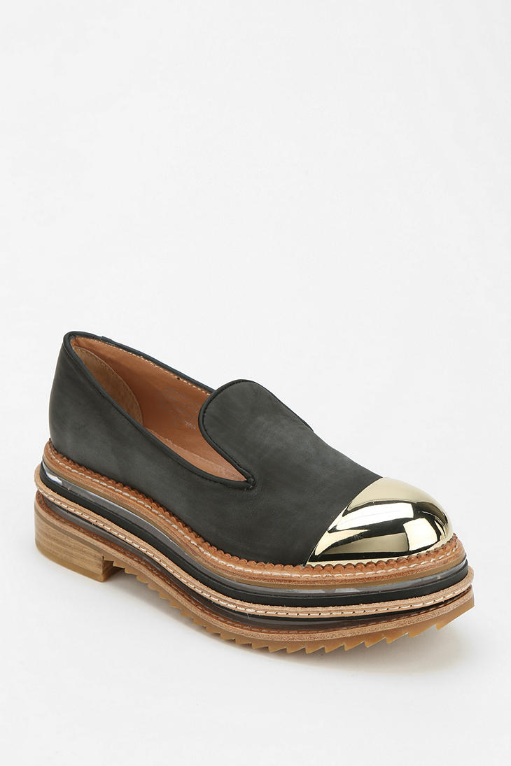 Urban Outfitters Izzard Metal Captoe Platform Loafer In