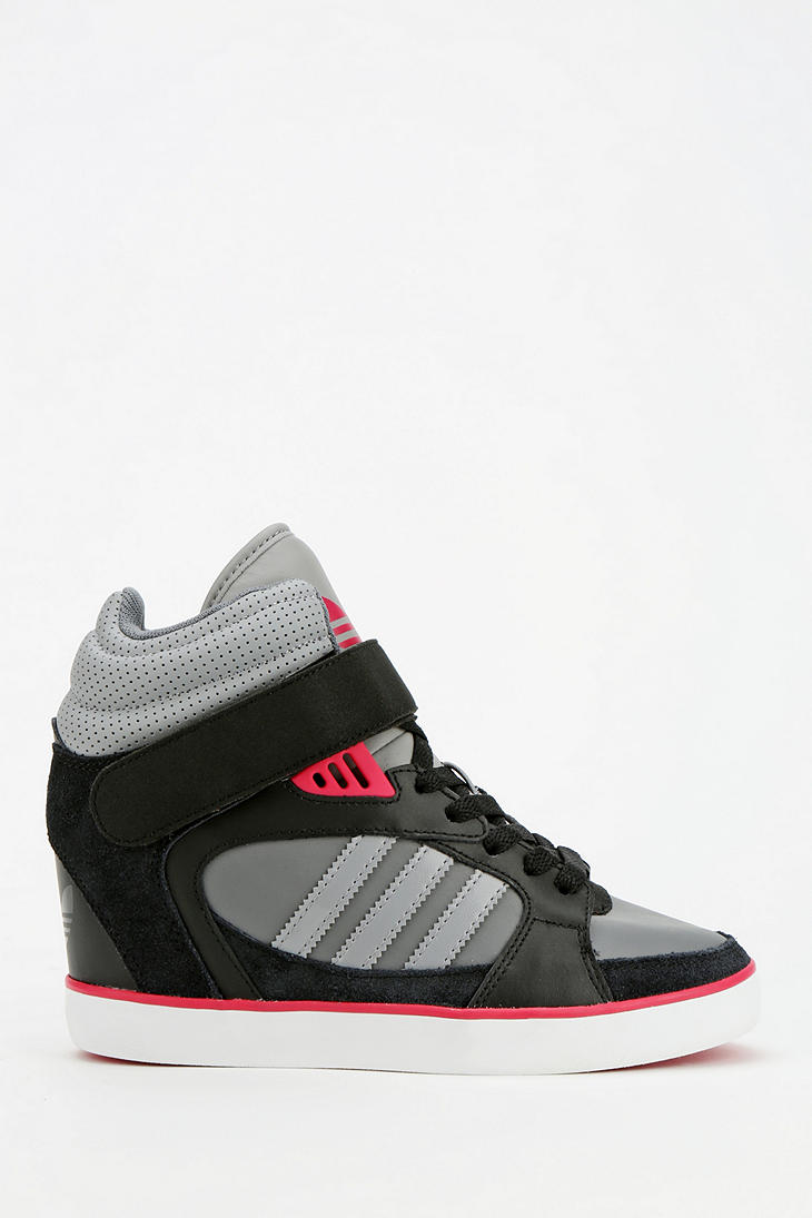 adidas amberlight up rose wedge sneakers